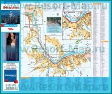 Подробная карта горнолыжного курорта Лез-Уш с отелями