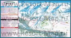 Карта склонов горнолыжного курорта Ля Клюза