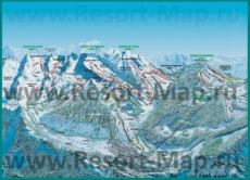 Подробная карта горнолыжного курорта Ля Клюза с трассами