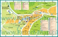 Туристическая карта Ля Клюза с отелями