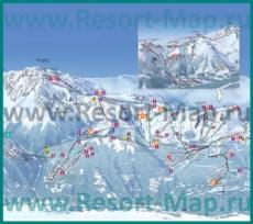 Карта склонов горнолыжного курорта Ля Плань