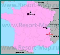 Ля Плань на карте Франции
