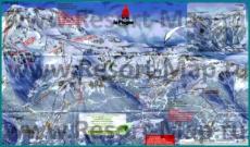 Подробная карта горнолыжного курорта Ля Плань с трассами