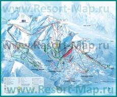 Карта склонов горнолыжного курорта Ла-Танья с трассами
