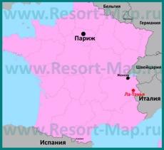 Ла-Танья на карте Франции