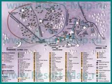 Туристическая карта Ла-Танья с отелями и шале