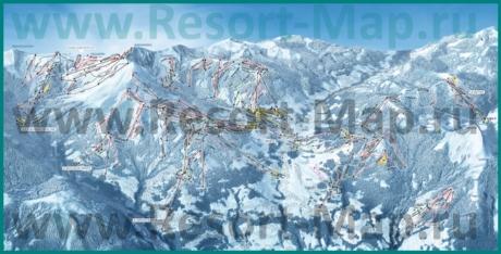 Карта склонов горнолыжного курорта Межев