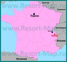 Межев на карте Франции