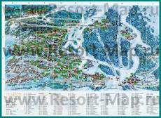 Туристическая карта Мерибеля с отелями и шале