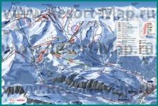 Карта склонов горнолыжного курорта Монрион
