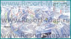 Карта склонов горнолыжного курорта Морзин
