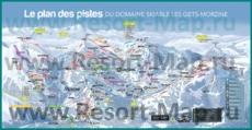 Подробная карта горнолыжного курорта Морзин с трассами