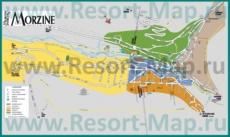 Туристическая карта горнолыжного курорта Морзин