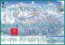 Карта склонов горнолыжного курорта Парадиски