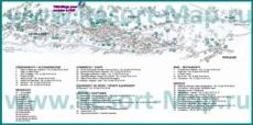 Туристическая карта Пейзе-Валландри с отелями, шале, ресторанами и магазинами