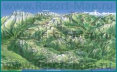 Карта склонов горнолыжного курорта Порт-дю-Солей