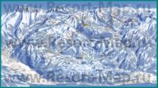 Подробная карта горнолыжного курорта Порт-дю-Солей с трассами