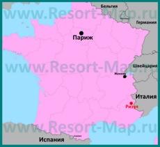 Ризул на карте Франции
