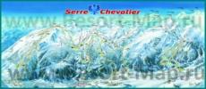 Карта склонов горнолыжного курорта Серр-Шевалье