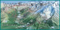 Карта склонов горнолыжного курорта Шамони