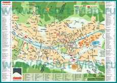 Подробная туристическая карта города Шамони