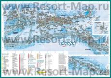 Карта горнолыжного курорта Шатель с отелями