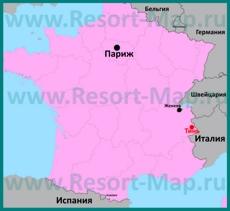 Тинь на карте Франции