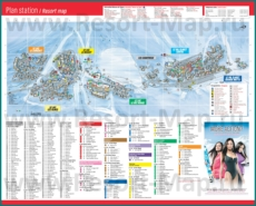 Туристическая карта Тиня с отелями и шале