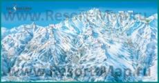 Карта склонов горнолыжного курорта Три Долины