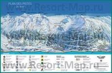 Карта склонов горнолыжного курорта Валь-Сени