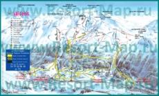 Подробная карта горнолыжного курорта Валь-Сени с трассами