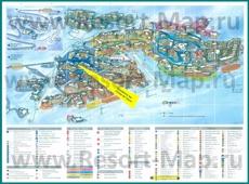 Туристическая карта курорта Валь Торанс с отелями и шале