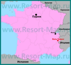 Валь Торанс на карте Франции