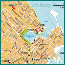 Карта центра Агиос Николаос с достопримечательностями