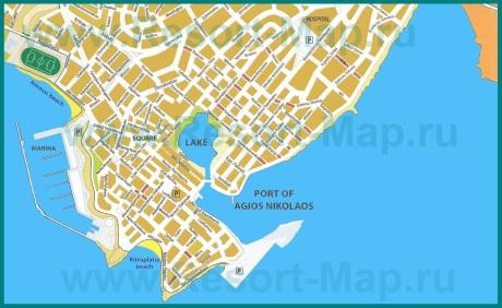 Карта курорта Агиос Николаос
