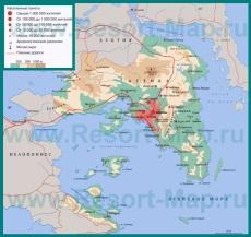 Карта Аттики на русском языке