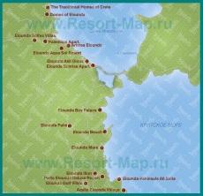 Карта отелей Элунда