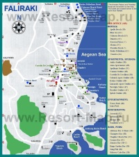 Карта отелей Фалираки