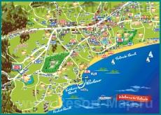 Туристическая карта курорта Фалираки
