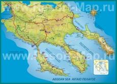 Подробная карта Халкидики