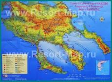 Туристическая карта Халкидики с достопримечательностями