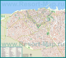 Туристическая карта Ираклиона