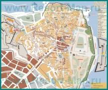 Карта города Корфу