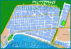Подробная карта курорта Лутраки