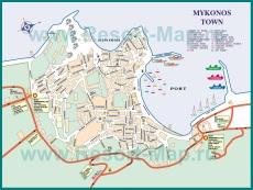 Карта города Миконос