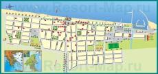 Подробная карта курорта Паралия Катерини