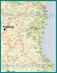 Карта региона Пиерия