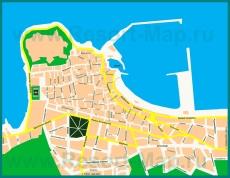 Подробная карта курорта Ретимно