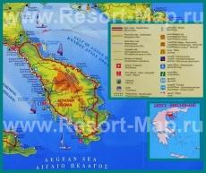 Туристическая карта Ситонии с достопримечательностями