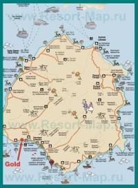 Подробная карта Тасоса с достопримечательностями